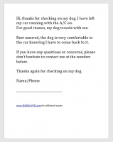 Dog Awareness Letter A/C